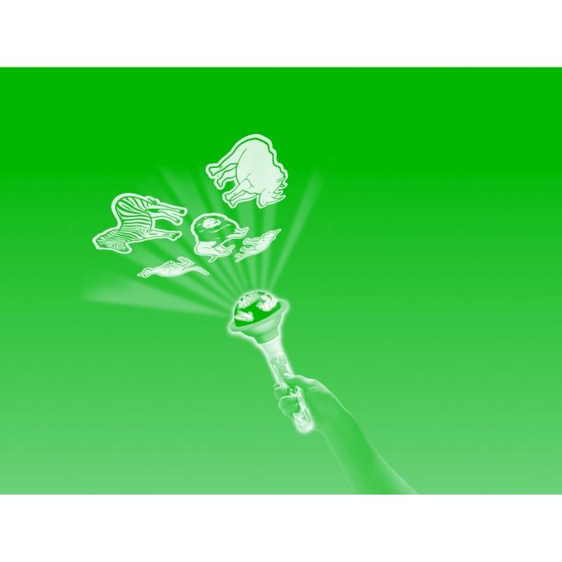 Proiector animale salbatice Brainstorm Toys, 10 imagini, Galben/Verde