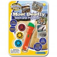 Proiector cele mai periculoase animale Brainstorm Toys, 24 imagini, Portocaliu/Verde