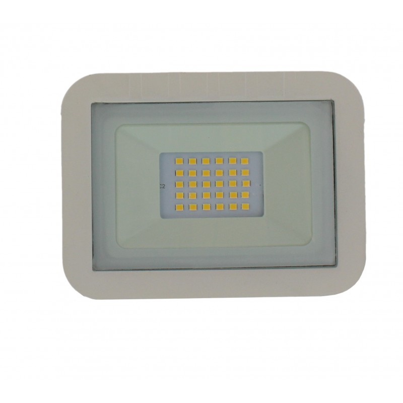Proiector LED Well, 20 W, 1600 lm, IP65, 4000 K, Alb shopu.ro