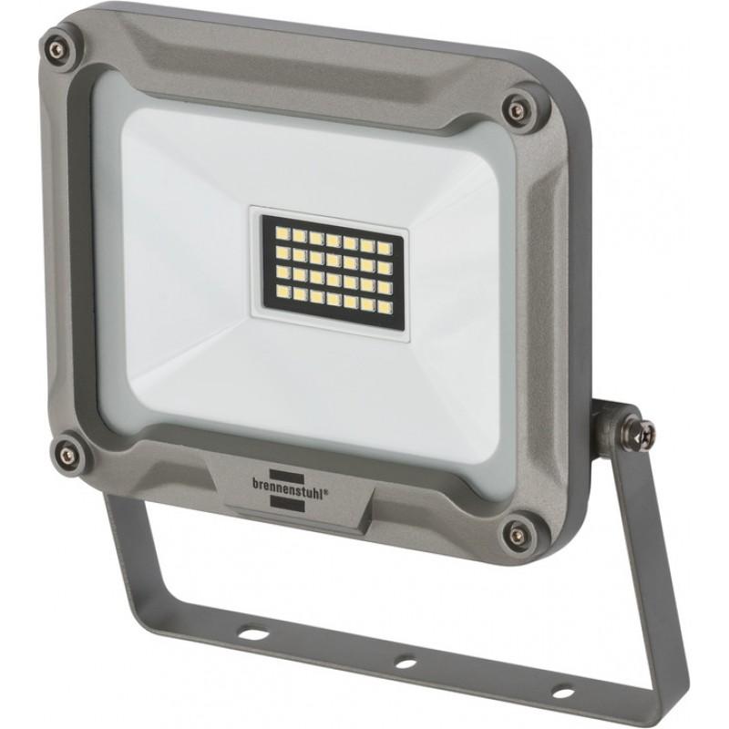 Proiector LED Brennenstuhl JARO 2000, 20 W, 28 LED-uri, IP65, 1870 lumeni, 6500 K, prindere pe perete, sticla securizata, aluminiu 2021 shopu.ro