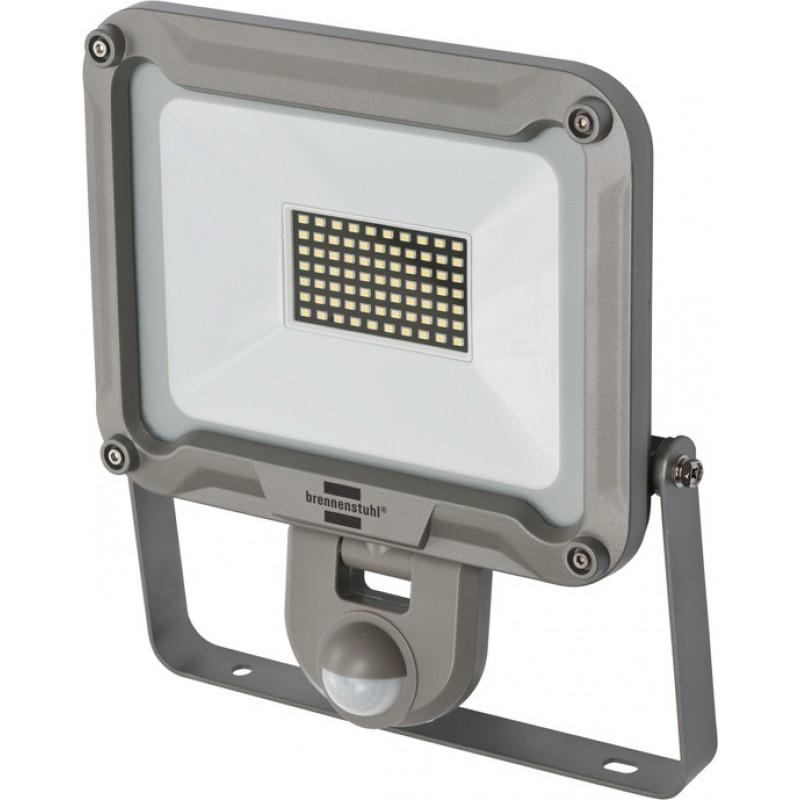 Proiector LED Brennenstuhl JARO 5000 P, 50 W, IP44, 4770 lumeni, 6500 K, senzor miscare, infrarosu, maner transport, sticla securizata, aluminiu 2021 shopu.ro