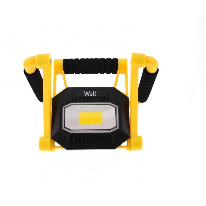 Proiector LED portabil Well, reincarcabil, putere 10 W, 700 lm shopu.ro