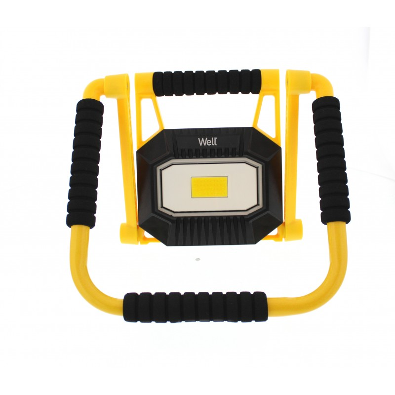 Proiector LED portabil Well, reincarcabil, putere 20 W, 1400 lm, 4000 K, alb neutru 2021 shopu.ro