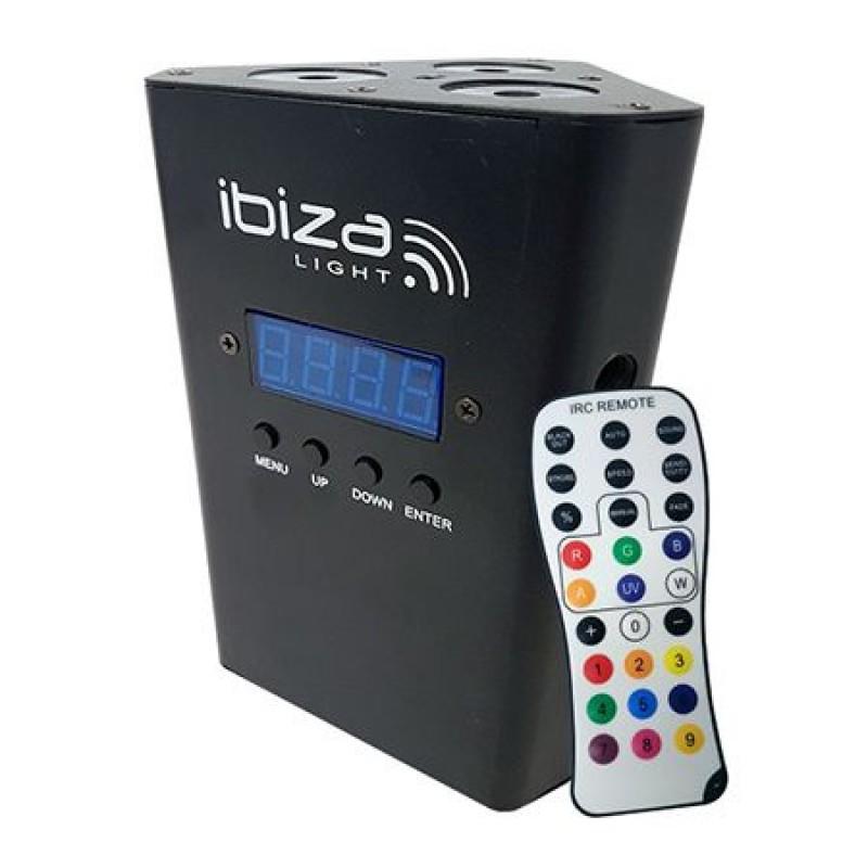 Proiector portabil IBiza, LED, RGBW, acumulator, 4000 mA, DMX 2021 shopu.ro