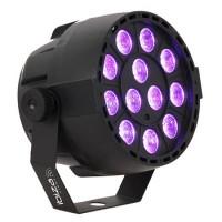 Proiector DMX LED/UV, 12 x 2 W, microfon, 4 canale