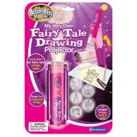 Proiector pentru desen imagini din basm Brainstorm Toys, 6 imagini, Roz