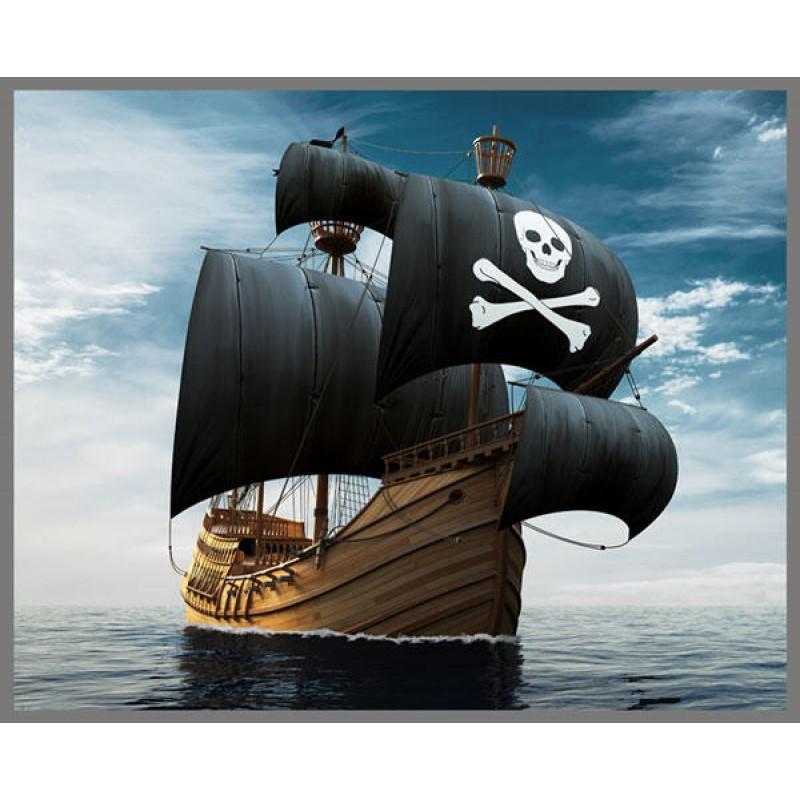Proiector tip lanterna Pirati Brainstorm, 11 cm, 8 imagini, 3 ani+