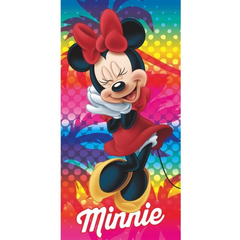 Prosop de plaja Minnie Star, 70 x 140 cm, Microfibra, Multicolor 2021 shopu.ro