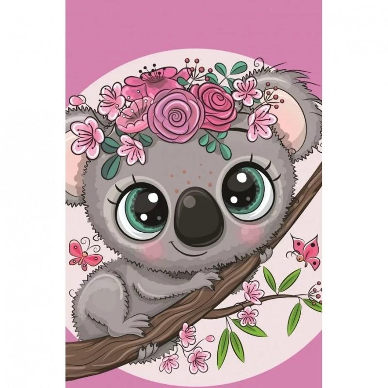 Prosop de fata Koala SunCity, 30 x 50 cm, bumbac, Multicolor 2021 shopu.ro