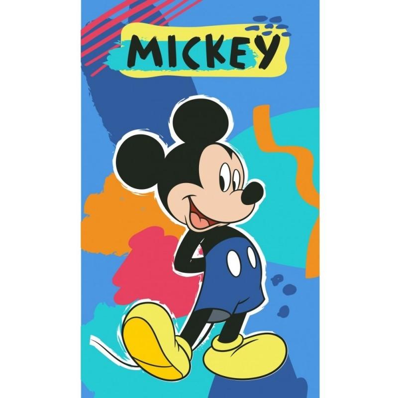 Prosop de fata Mickey Paint SunCity, 30 x 50 cm, bumbac, Albastru 2021 shopu.ro
