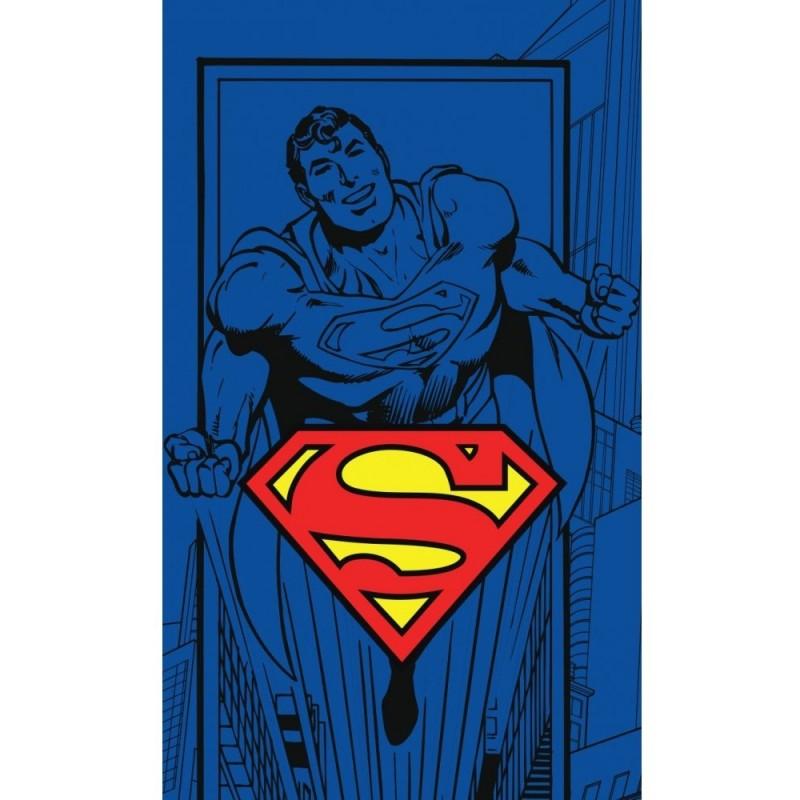 Prosop de fata Superman SunCity, 30 x 50 mm, bumbac, Multicolor 2021 shopu.ro