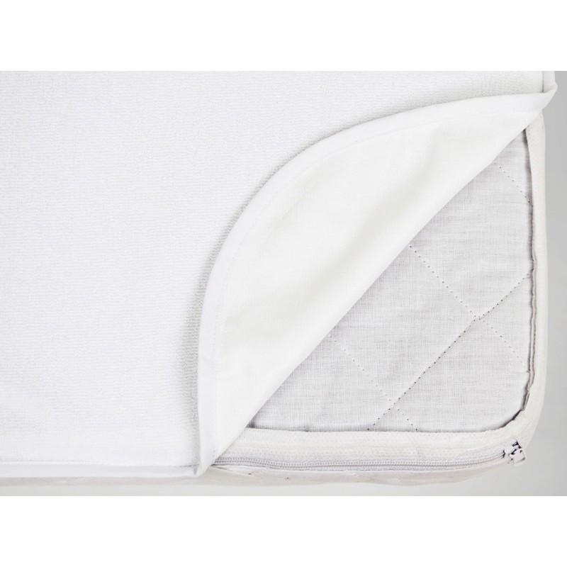 Protectie saltea MyKids, 140 x 70 cm, bumbac, Alb 2021 shopu.ro