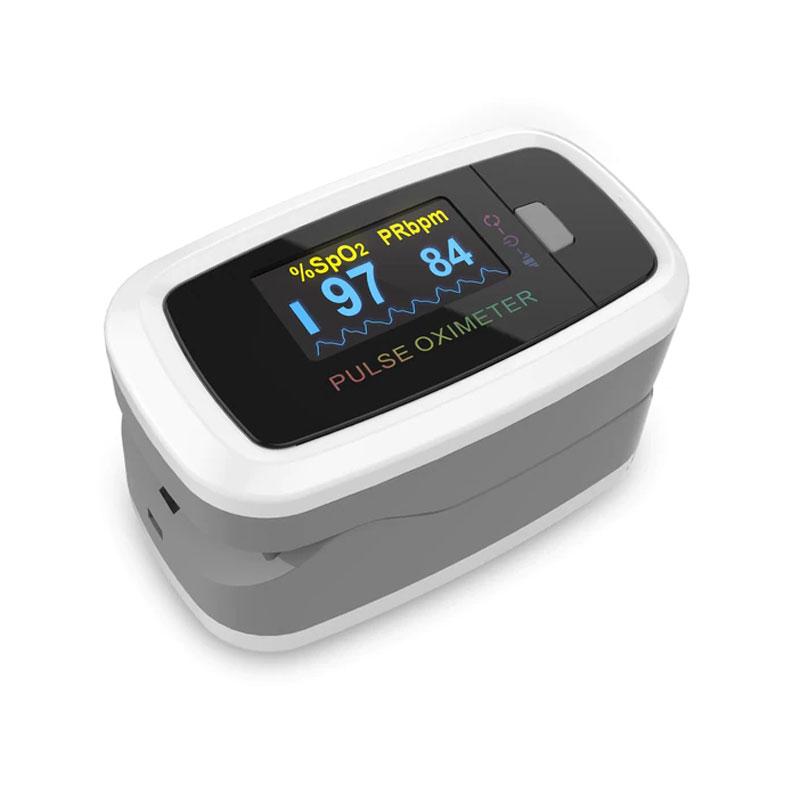 Pulsoximetru Contec, 2 x AAA, masoara rata, portabil, Alb 2021 shopu.ro