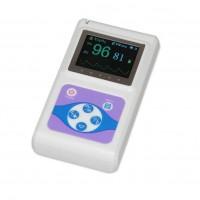 Pulsoximetru profesional Contec, display color, 1.8 inch, functie ceas, masoara rata pulsului, Alb