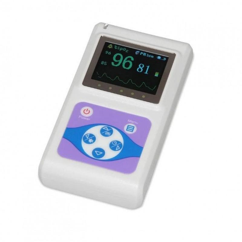 Pulsoximetru profesional Contec, display color, 1.8 inch, functie ceas, masoara rata pulsului, Alb 2021 shopu.ro