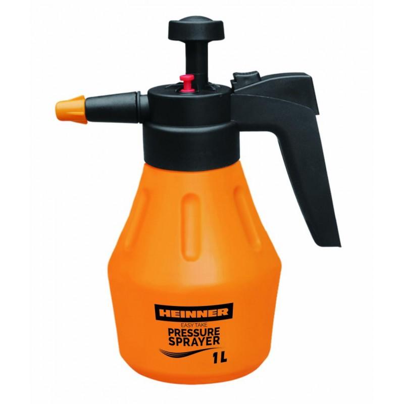 Pulverizator cu presiune Heinner, 1 L, duza ajustabila, valva eliberare presiune, maner ergonomic, recipient rezistent shopu.ro