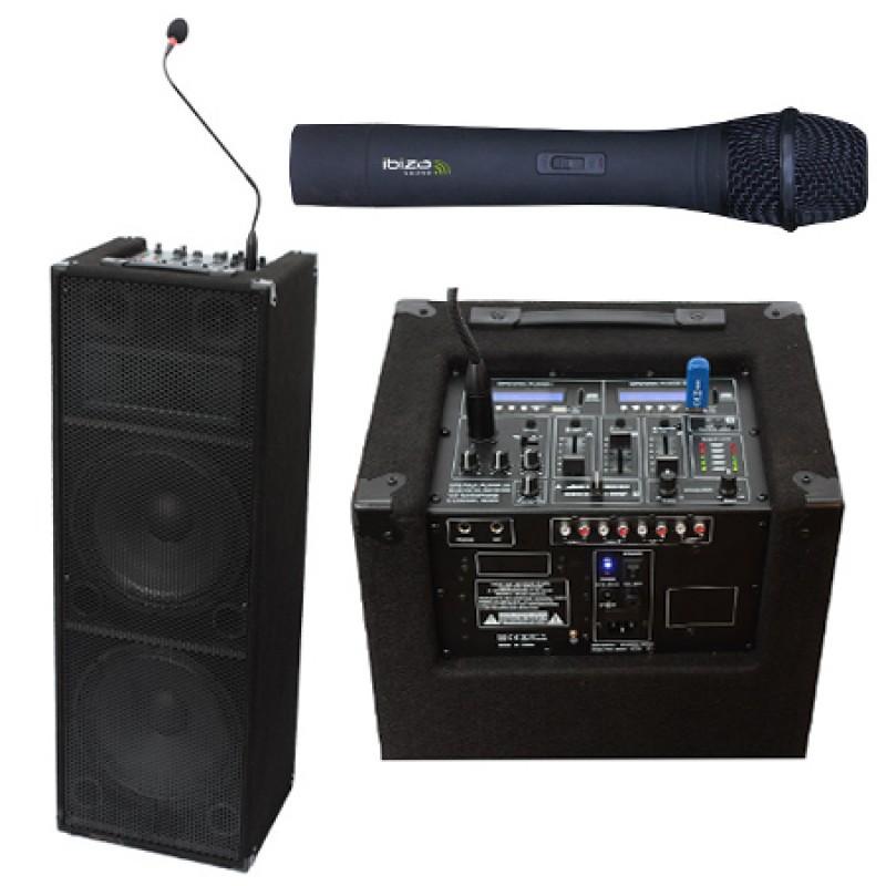Sistem de amplificare tip pupitru, 2 x 12 inch, microfon VHF, 120 W 2021 shopu.ro