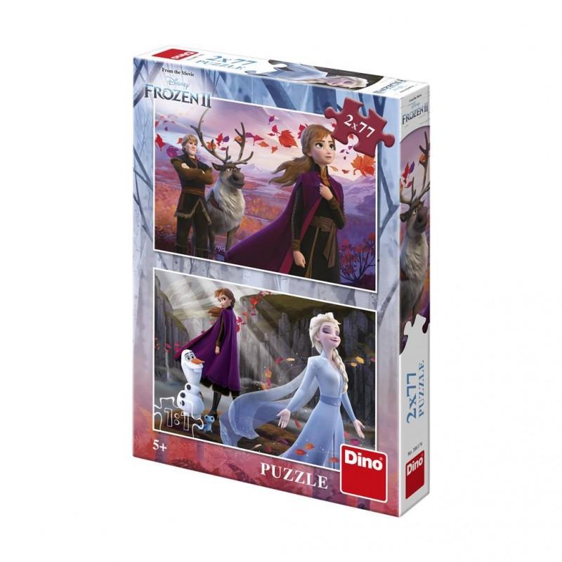 Puzzle 2 in 1 Frozen II Dino Toys, 77 piese, 5 ani+ 2021 shopu.ro