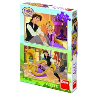 Puzzle 2 in 1 Tangled, 77 piese, 4-8 ani