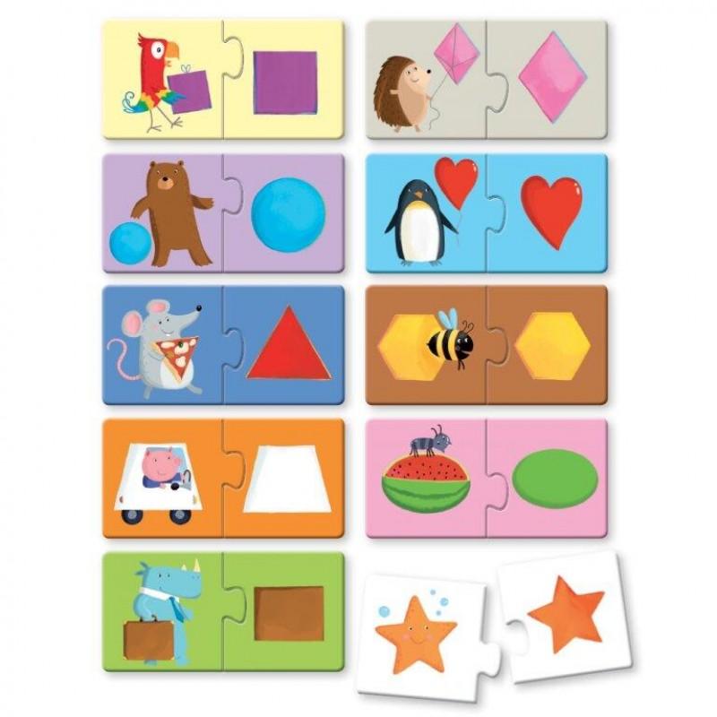 Puzzle Unicorn Sassi, 20 piese, 15 x 23 cm, carte inclusa, 10 pagini, 2 ani+ 2021 shopu.ro