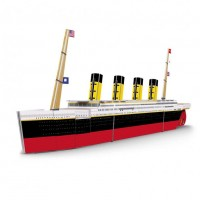 Puzzle 3D Titanic Sassi, 60 piese, carte inclusa, 14 pagini, 6 ani+