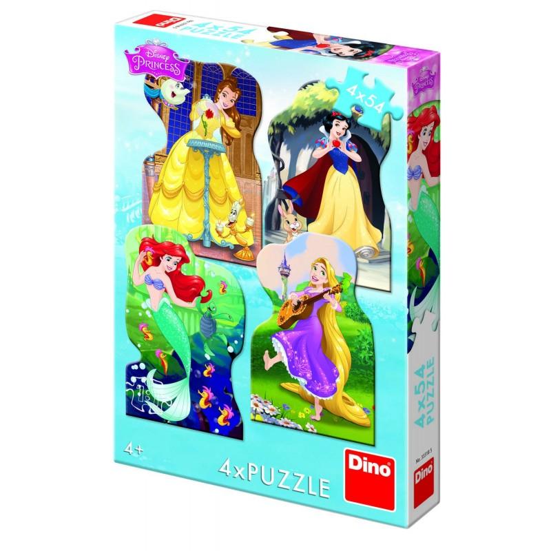 Puzzle 4 in 1 Dino Toys Printesele si prieteni, 54 piese, 4-6 ani 2021 shopu.ro