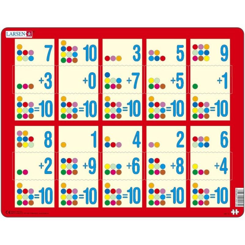 Puzzle Larsen Adunarea 1-10C, 10 Piese