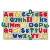 Puzzle Alfabet litere mari si mici Melissa and Doug, lemn