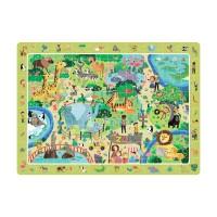 Puzzle Animalute la Zoo Dodo, 80 piese, 31 x 45 cm, carton, 5 ani+
