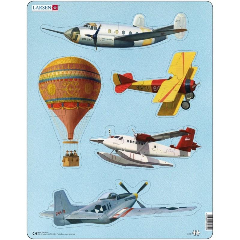 Puzzle Aviatie Larsen, 24 Piese 2021 shopu.ro