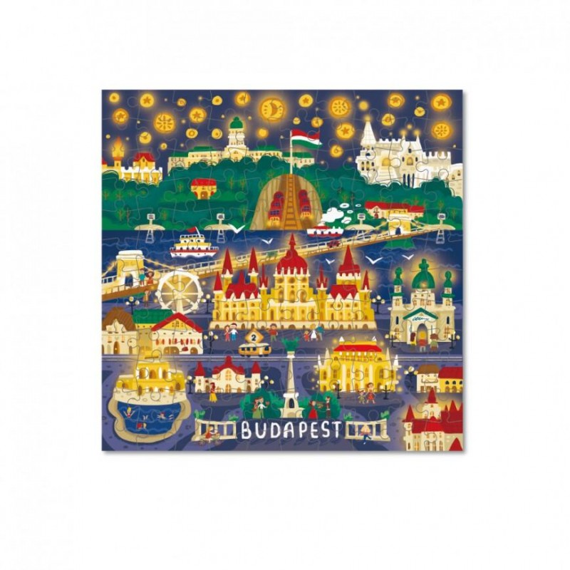 Puzzle Budapesta Dodo, 120 piese, 6 ani+ 2021 shopu.ro