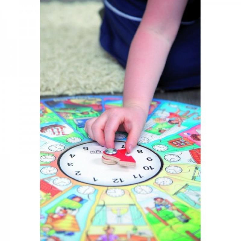 Puzzle circular Invata ceasul Beleduc, 48 piese si 1 ceas