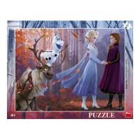 Puzzle cu rama Dino Toys, 40 piese, model Frozen II