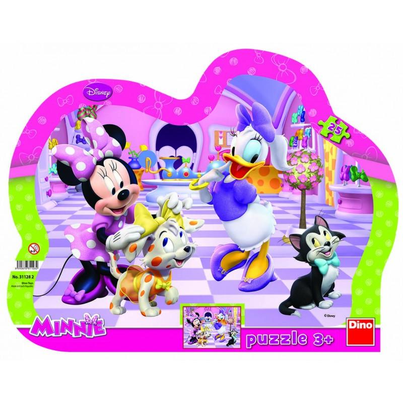 Puzzle cu rama Minnie si Daisy Dino Toys, 25 piese, 3 ani+ 2021 shopu.ro