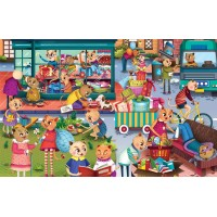 Puzzle cu surprize Goodygum Chalk and Chuckles, 100 piese, 5 ani+