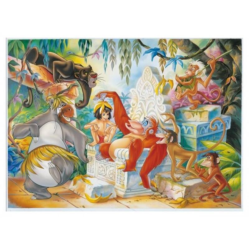 Puzzle de colorat Cartea junglei Lisciani, 108 piese, 4 ani+ 2021 shopu.ro