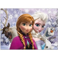 Puzzle de colorat maxi Anna si Elsa Lisciani, 60 piese, 3 ani+