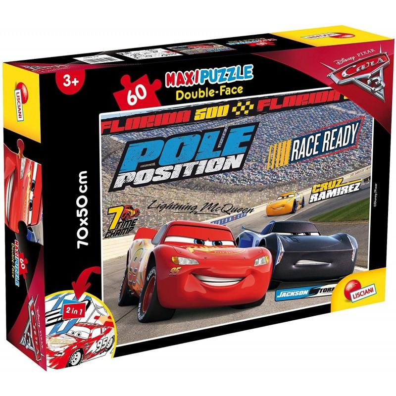 Puzzle de colorat maxi Cars 3 Lisciani, 60 piese, 3 ani+ 2021 shopu.ro