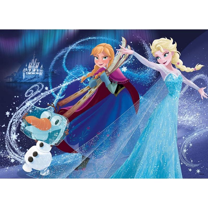 Puzzle de colorat maxi Frozen Lisciani, 35 piese, 3 ani+ 2021 shopu.ro