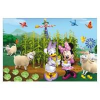 Puzzle de colorat Minnie si Daisy in gradina Lisciani, 108 piese, 4 ani+