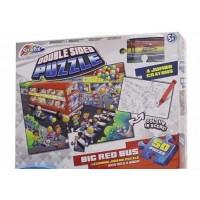 Puzzle de podea Asambleaza si coloreaza Autobuzul Grafix, 50 piese, 83 x 56 cm