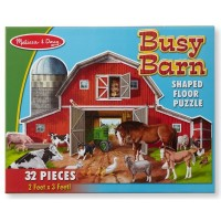 Puzzle de podea Ferma cu animale Melissa and Doug, 32 piese