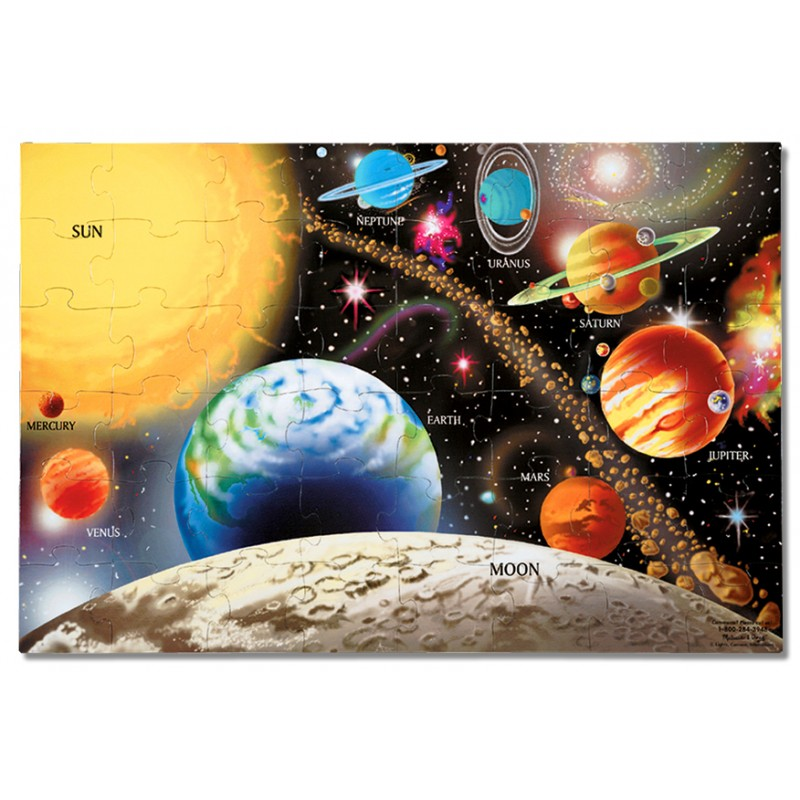 Puzzle de podea Sistemul Solar Melissa and Doug, 48 piese