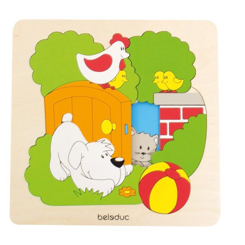 Puzzle Descopera Gradina Beleduc, multicolor 2021 shopu.ro