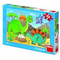 Puzzle Dinozauri prietenosi Dino Toys, 48 piese, 4 ani+