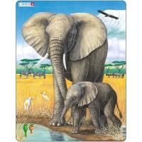 Puzzle Elefant Larsen, 32 Piese