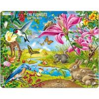 Puzzle Larsen Flori si Albine, 55 Piese