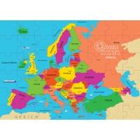 Puzzle geografic Harta Europei Dino Toys, 69 piese, 6 ani+