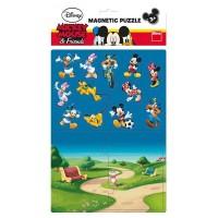 Puzzle magnetic Mickey si prietenii Dino Toys, 16 piese, 3 ani+