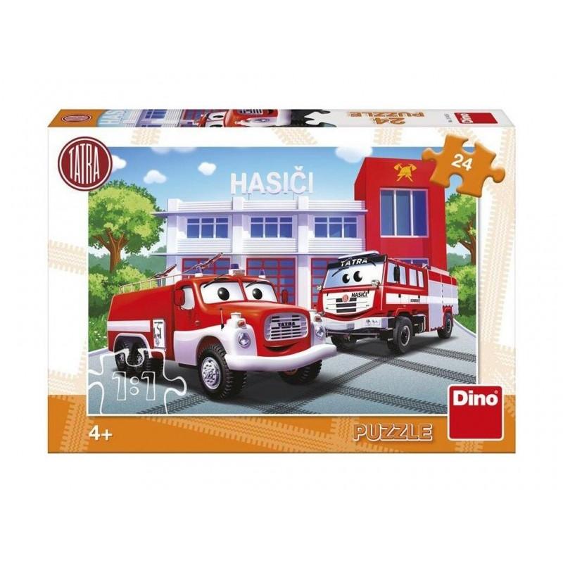 Puzzle Masina de pompieri Dino Toys, 24 piese, 4-8 ani+ 2021 shopu.ro